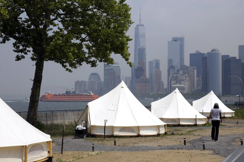 & Luxury tents gourmet meals redefine camping on NYC island