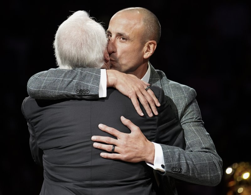 8ff2c920a25 Spurs retire Ginobili's jersey during emotional ceremony