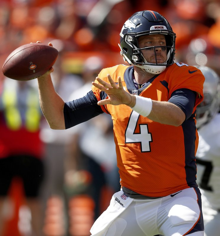 on sale 53b03 57958 Case Keenum returns to Broncos practice after missing 1 day