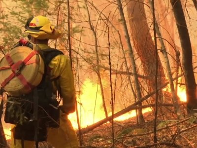 Raw: Crews Battle Raging Wine Country Flames