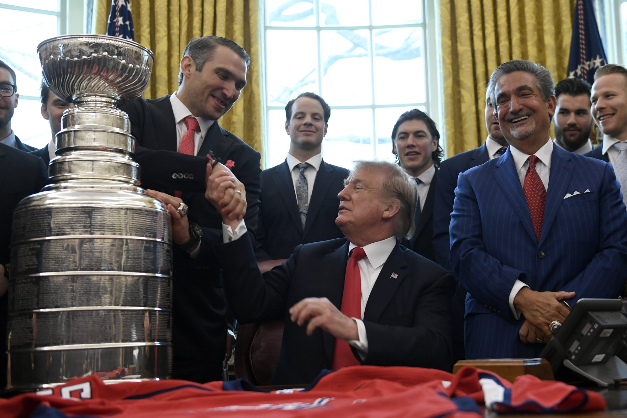 Trump hosts Stanley Cup champion Capitals at White House