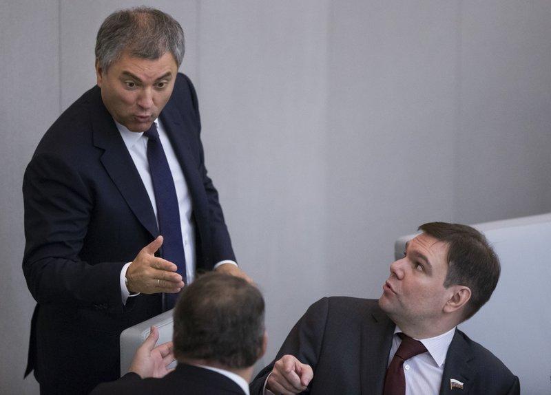 Vyacheslav Volodin, Leonid Levin, Pyotr Tolstoy