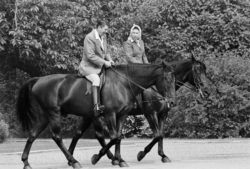 Queen Elizabeth II, Ronald Reagan