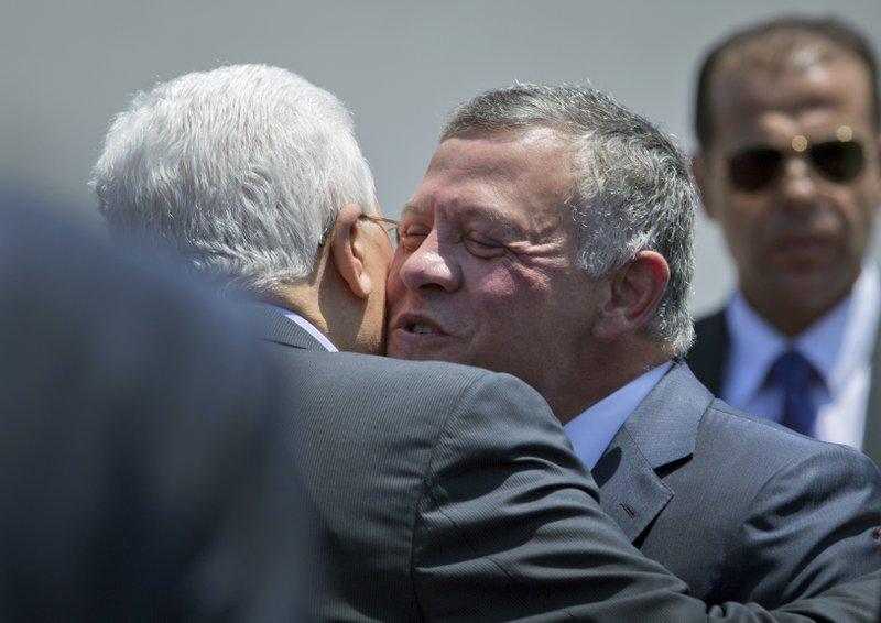 King Abdullah II, Mahmoud Abbas