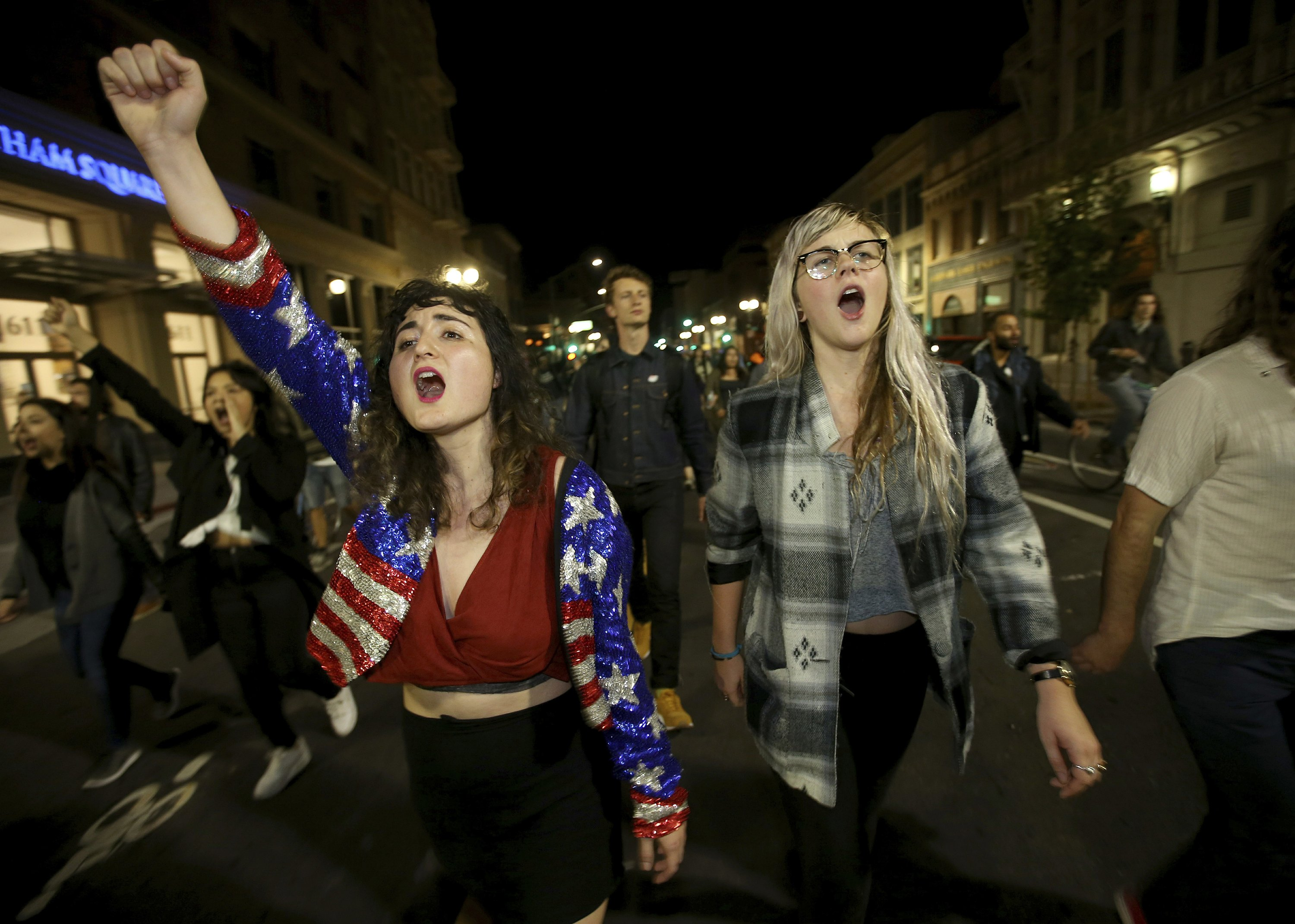 The Latest: Arrests in Portland anti-Trump protests