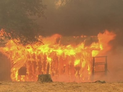 Raw: Twin Fires Threaten Northern Calif. Towns