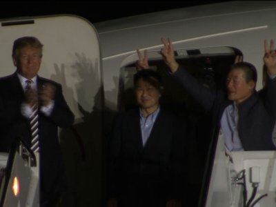 President Trump Welcomes Freed Detainees