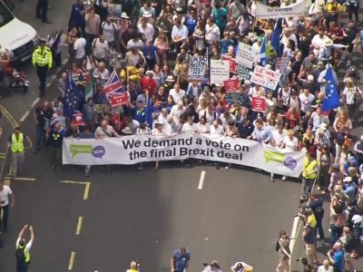 Thousands March To Demand Vote On Brexit Deal