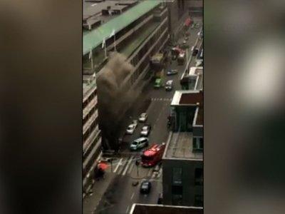 Raw: People Run as Truck Hits Swedish Store