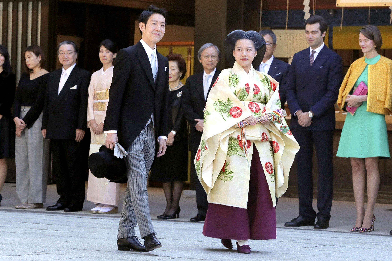 Japanese Princess Ayako marries commoner at shrine ceremony