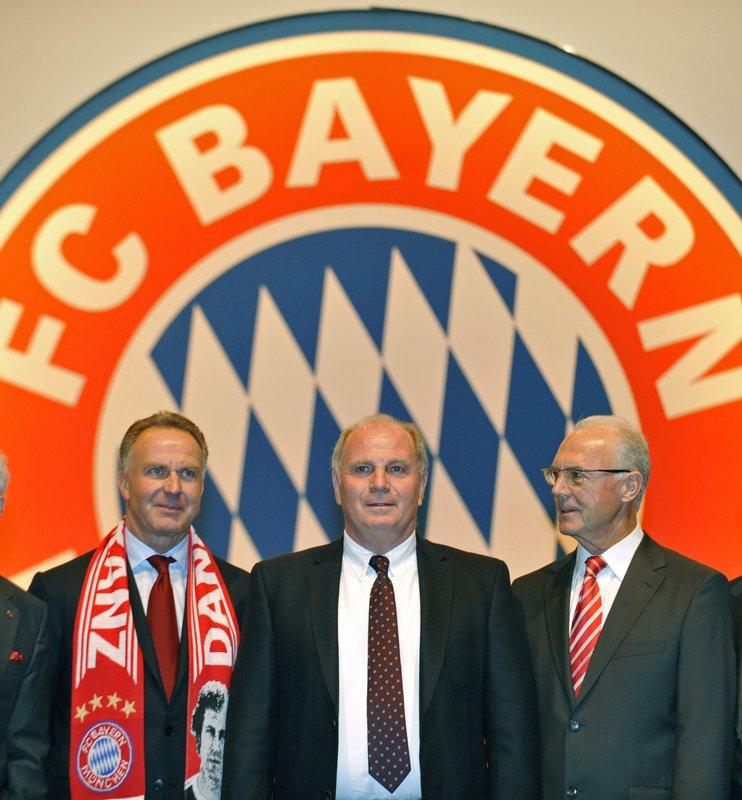 Bayern Munich celebrating 40 years of Uli Hoeness as manager