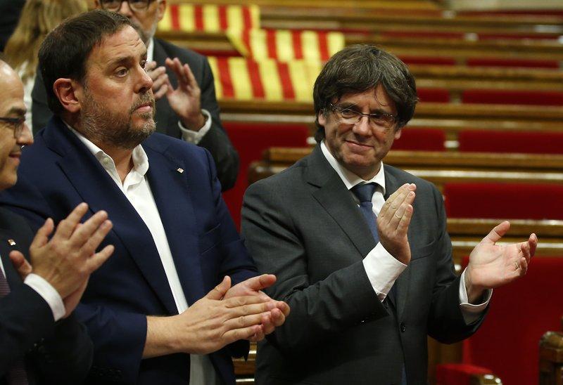 Carles Puigdemont, Oriol Junqueras