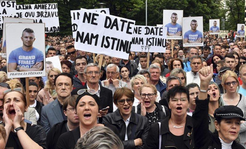 Bosnia Protest