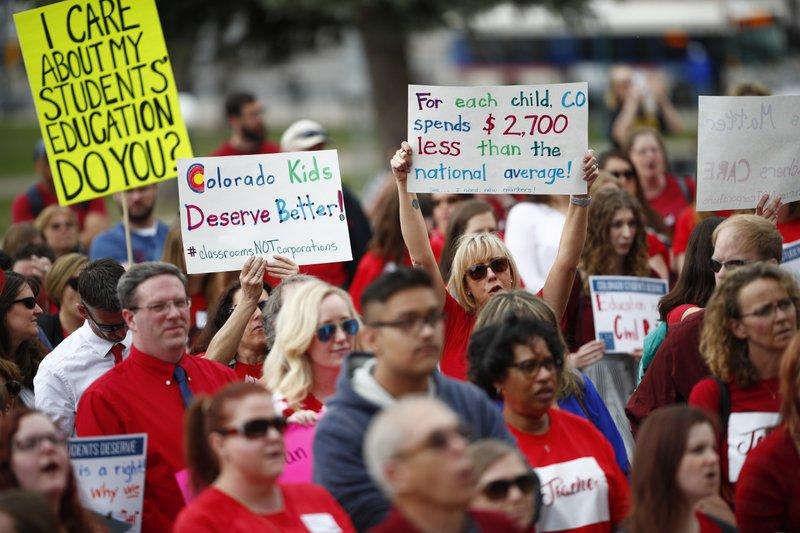 Teacher rally colorado