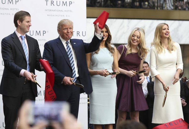 Donald Trump, Eric Trump, Melania Trump, Tiffany Trump, Ivanka Trump