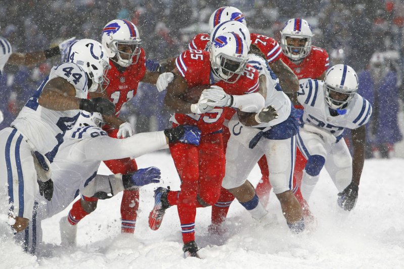 Bills Frolic In The Snow After 13 7 Ot Win Against Colts