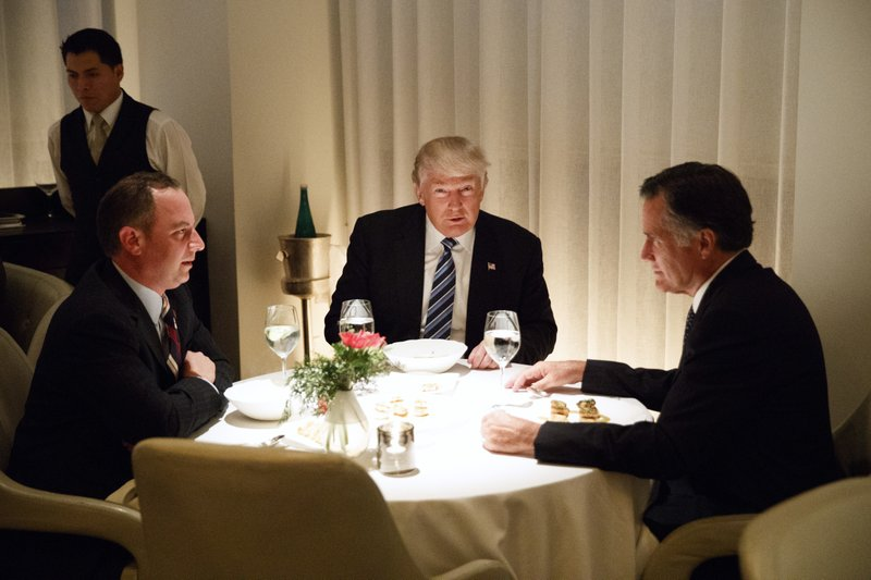Donald Trump, Mitt Romney, Reince Priebus