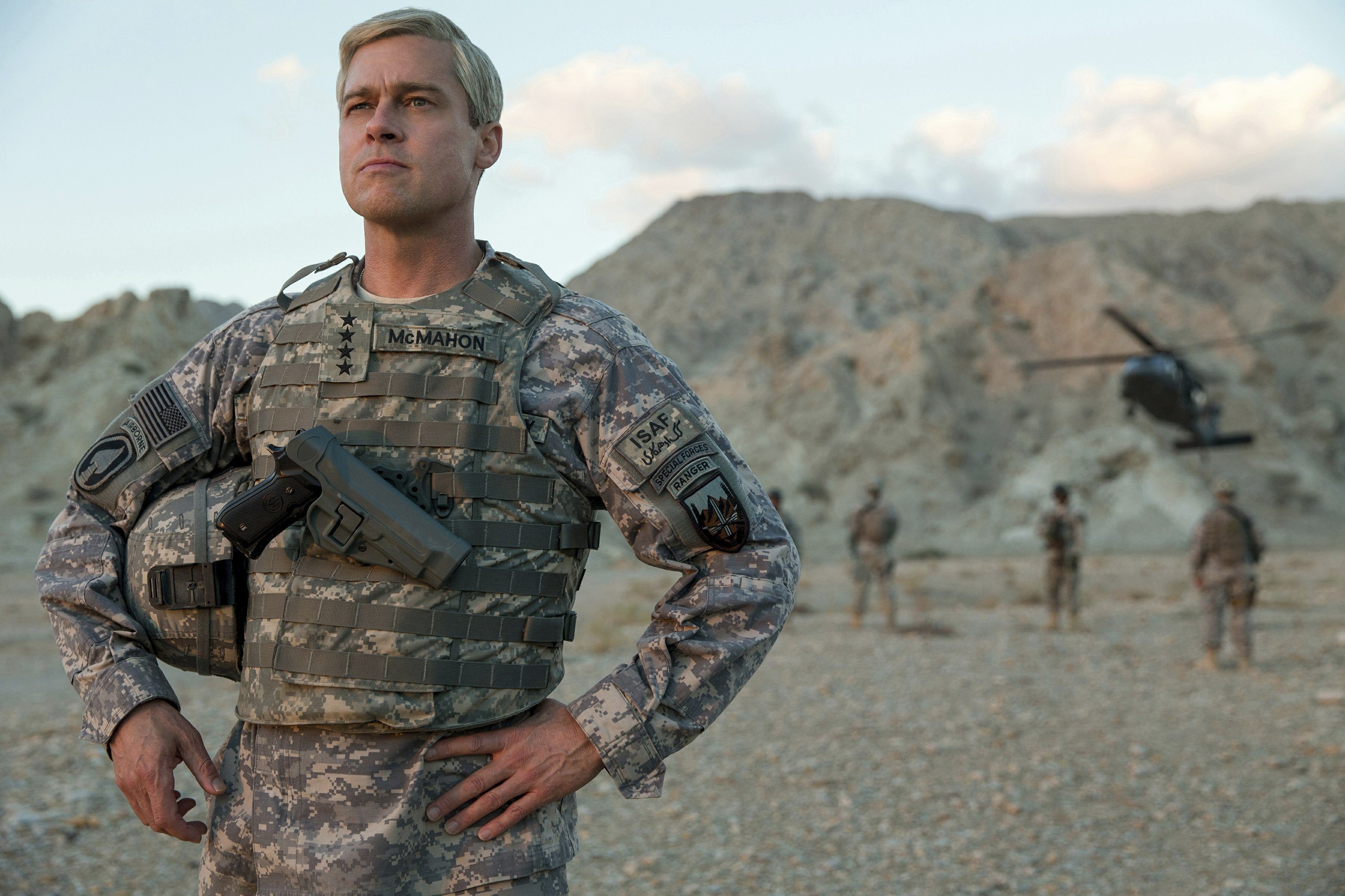Review Pitt Goes All Out In Flawed Satire War Machine