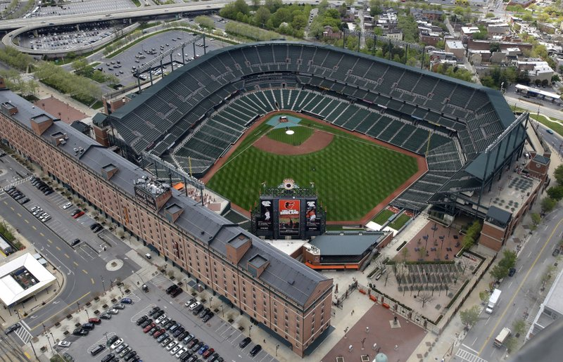 Oriole Park At Camden Yards Sits Empty Tuesday April 28 2017 In Baltimore It S Been 25 Years Since The Orioles Began Playing