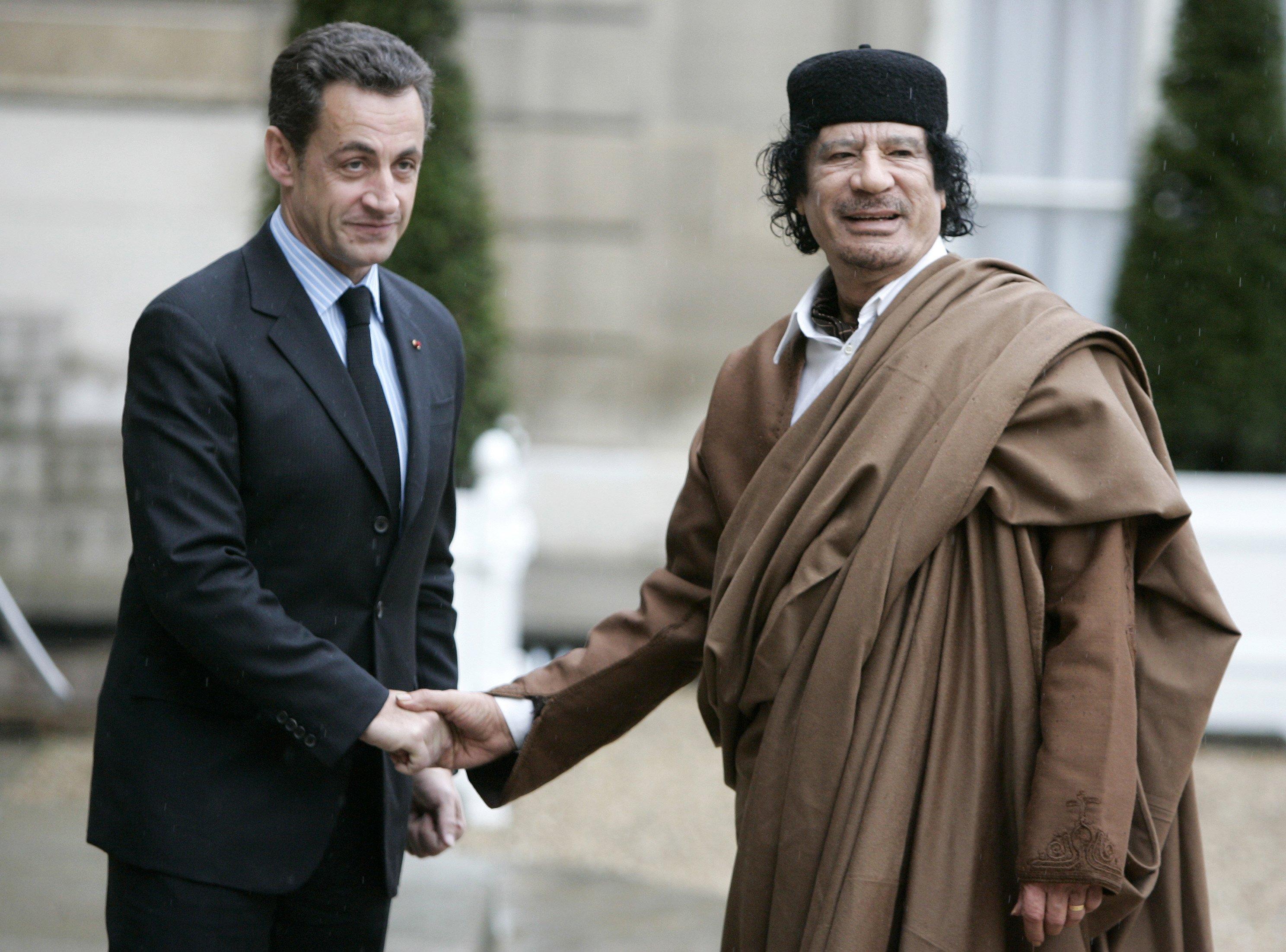 Ex-French president Sarkozy held on Gadhafi claims