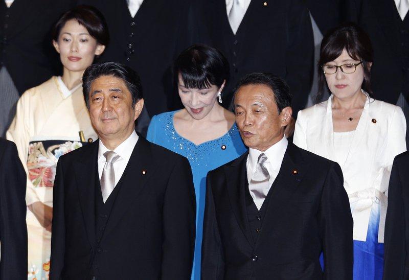 Shinzo Abe, Taro Aso, Tamayo Marukawa, Sanae Takaichi, Tomomi Inada