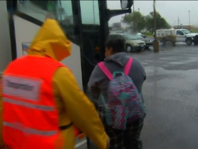 Corpus Christi Residents Flee to Safer Ground