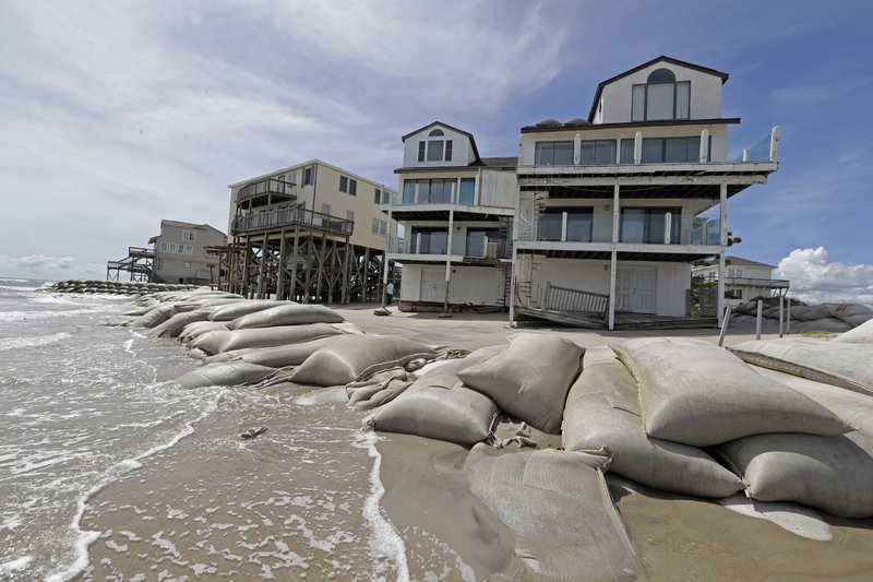 Sand Bags Surround Homes On North Topsail Beach N C Wednesday Sept 12 2018 As Hurricane Florence Threatens The Coast Ap Photo Chuck Burton