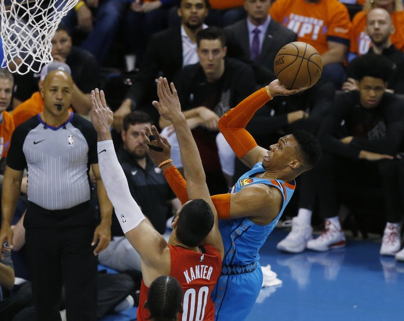 621dd67cd27 Westbrook leads Thunder past Trail Blazers, 120-108