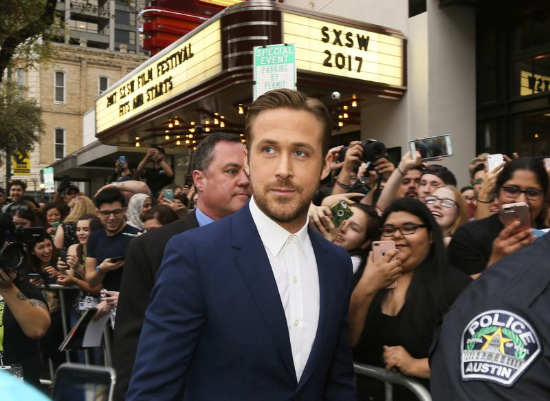 FILE   In This March 10, 2017 File Photo, Actor Ryan Gosling Arrives At The  World Premiere Of His Film, U201cSong To Songu201d During The South By Southwest  Film ...