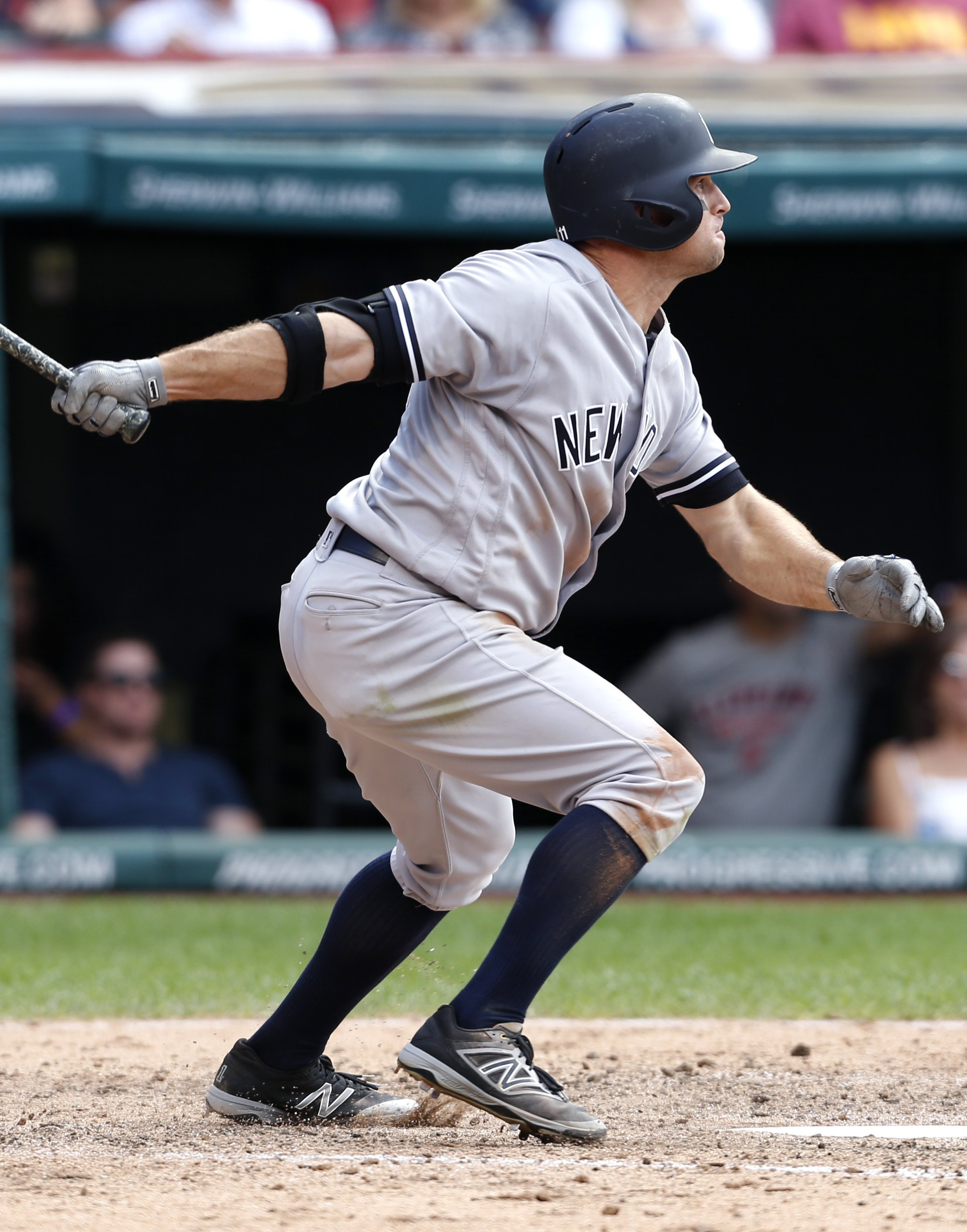 McCann's RBI double in 11th helps Yankees beat Indians 7-6
