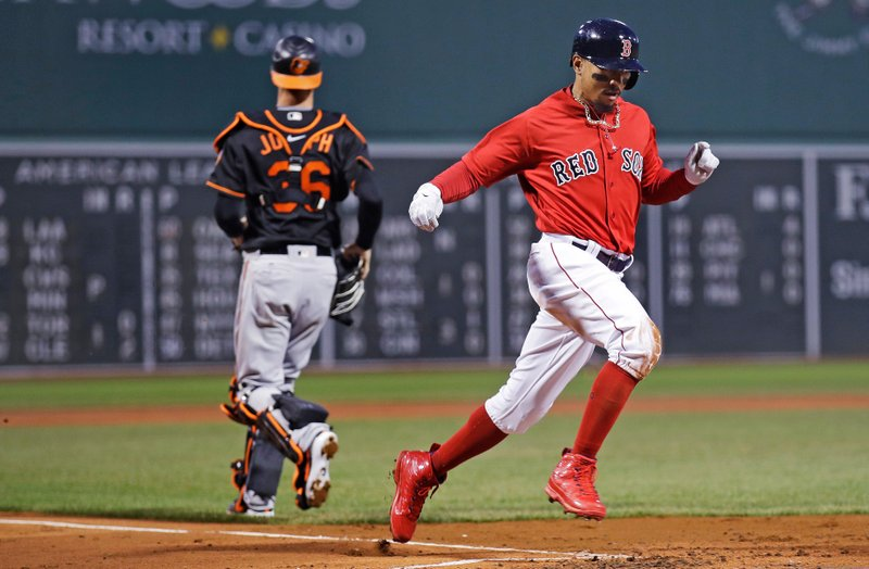 Mookie Betts, Caleb Joseph