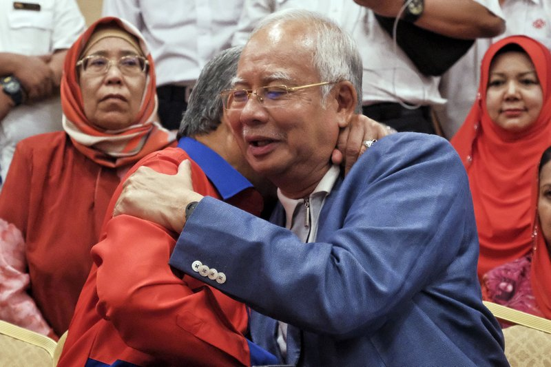 Image result for Najib Razak in Defeat