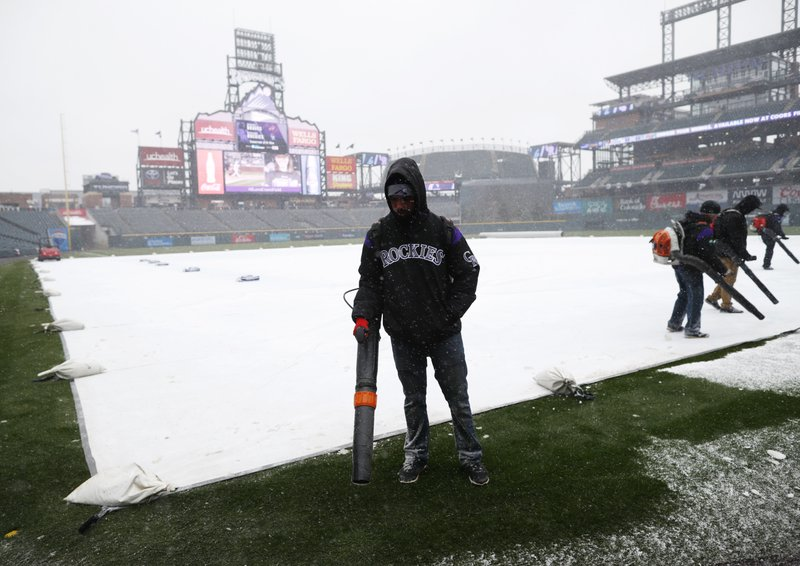 Coors Field, snow