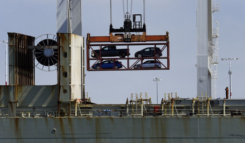 Vehicle transport on container ship