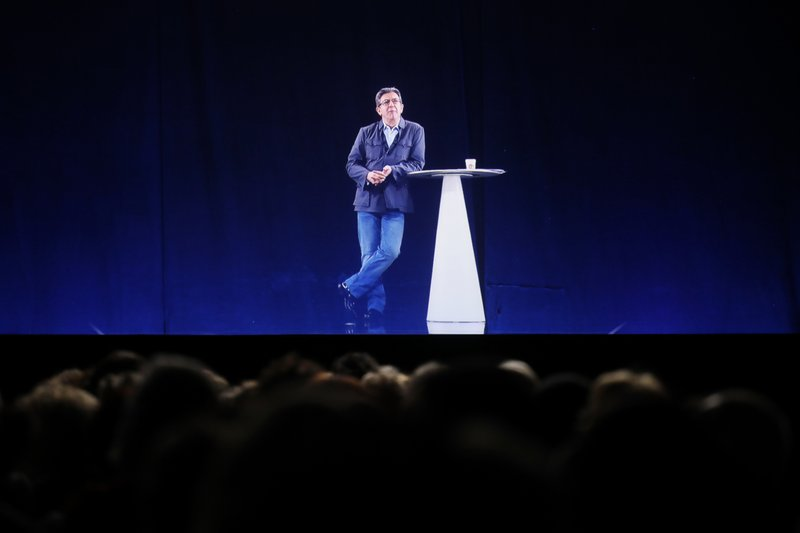 The Latest: Melenchon is in 7 places at once, with hologram