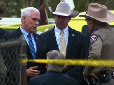 Raw: Pence Meets with TX Heroes, Law Enforcement