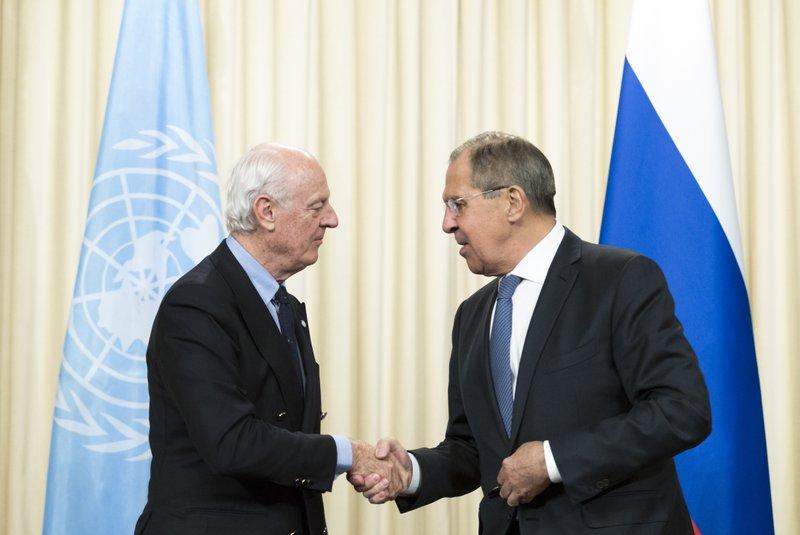 Sergey Lavrov, Staffan de Mistura