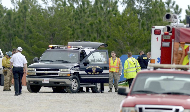4 dead after small civilian plane crashes on Air Force base