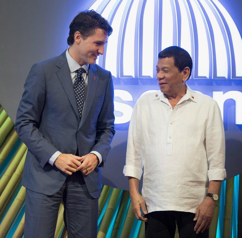Justin Trudeau Rodrigo Duterte