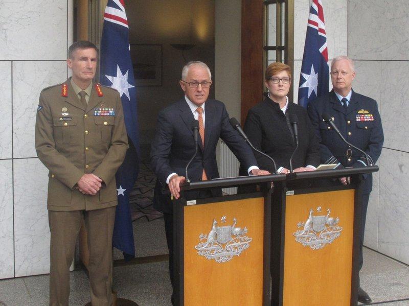 Angus Campbell, Malcolm Turnbull, Marise Payne, Mark Binskin