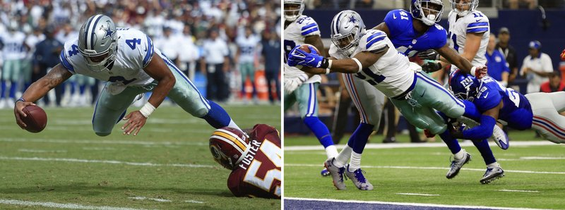 d82133bb0d0 Cowboys' Prescott, Elliott on to Year 2 as suspension looms