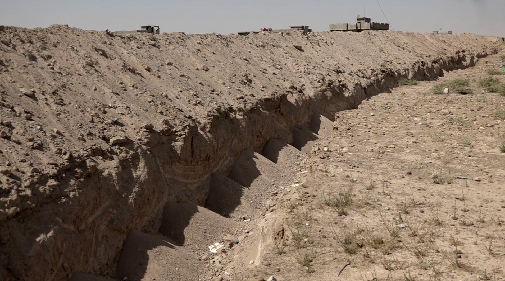 AP EXCLUSIVE: Iraq digs security trench around Fallujah