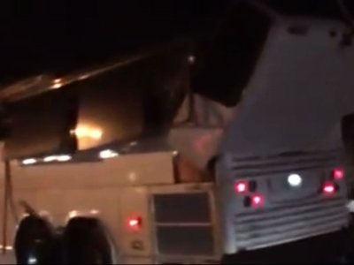 Raw: Bus Carrying Teens Hits NY State Overpass