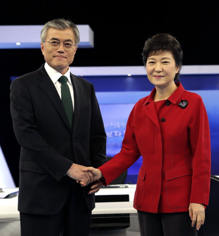 Moon Jae-in, Park Geun-hye