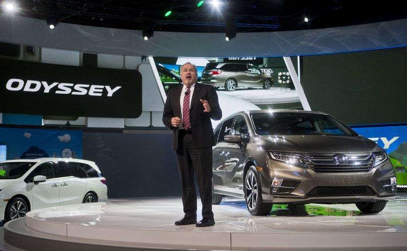 American Honda Executive Vice President John Mendel Speaks About The New Odyssey Minivan At North International Auto Show Monday Jan