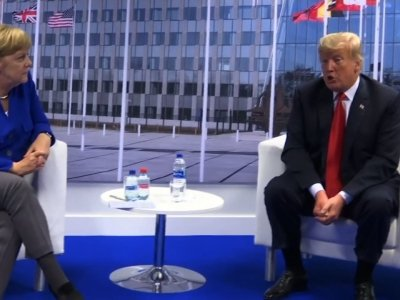Trump Meets German Leader After Harsh Comments