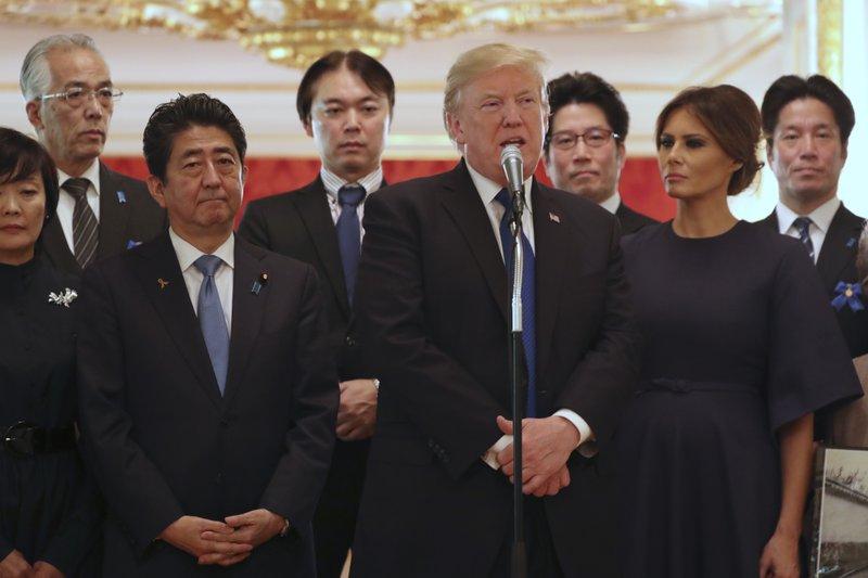 Donald Trump, Shinzo Abe, Melania Trump, Akie Abe, Koichiro Iizuka