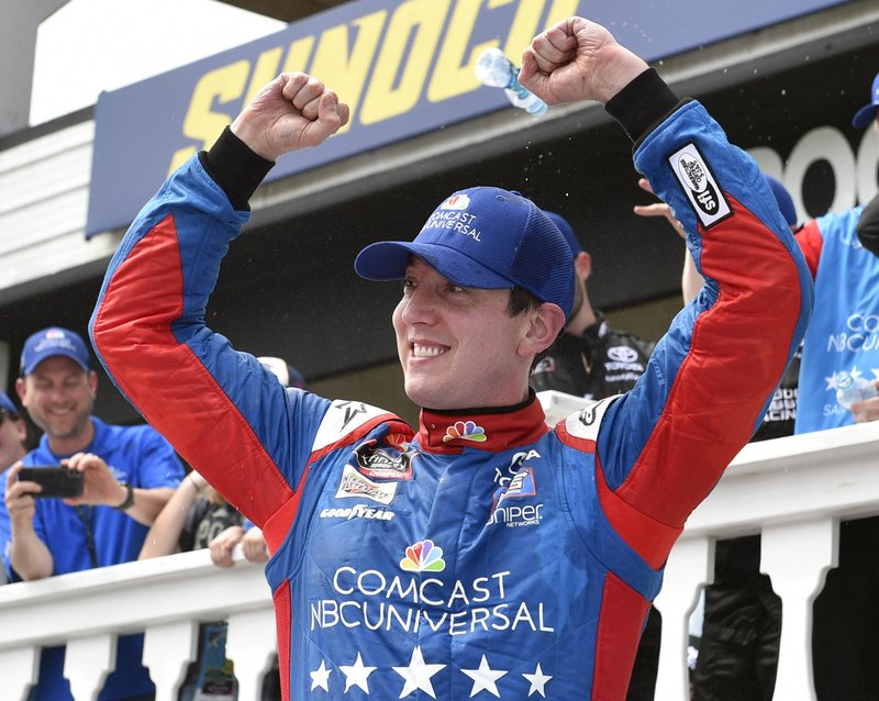 Race Winner Kyle Busch Joe Gibbs Racing Toyota Ry Cast Salute To Service Juniper