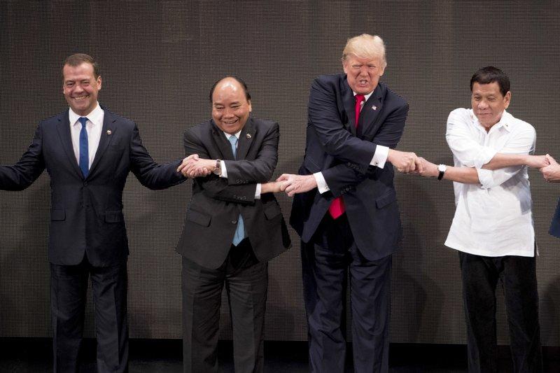 Donald Trump, Rodrigo Duterte, Nguyen Xuan Phuc, Dmitry Medvedev