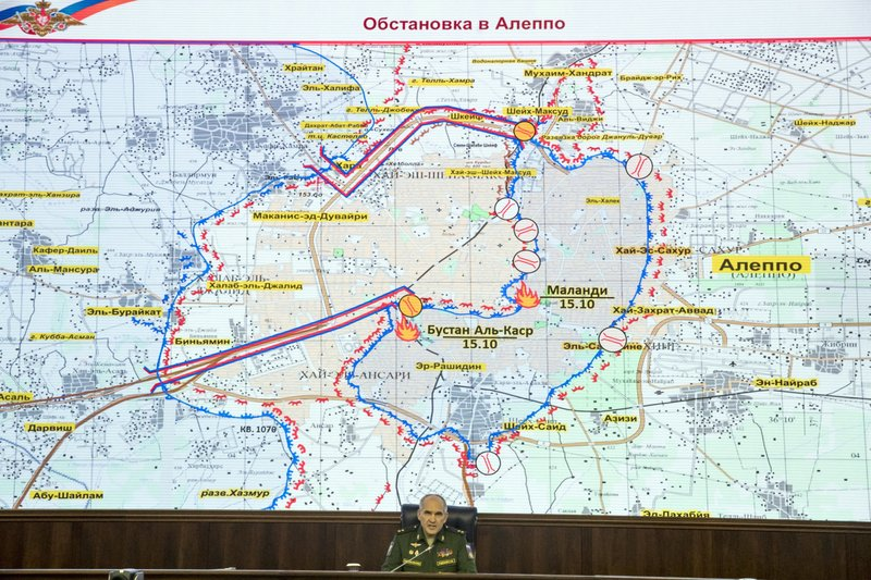 Syrian forces prepare corridors out of Aleppo